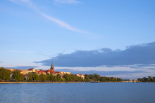 Elk, Poland - Panoramic View Of The Town Of Elk At The Elckie Lake