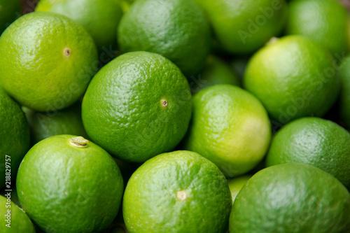 Fotografie, Obraz  Lime Citrus Fruits background. Fresh juicy limes. Healthy food