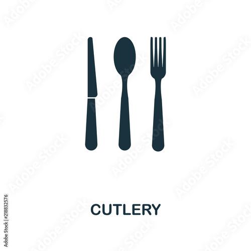 Valokuvatapetti Cutlery icon