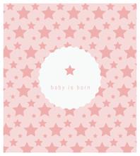 Faire-part De Naissance, Carte Pour Célébrer L'arrivée D'un Bébé, étoile, étoiles, Espace, Ciel, Galaxie, Rose, Pattern