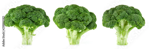 Carta da parati  raw broccoli isolated