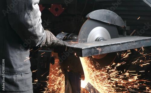 Fototapeta  Cutting of metal
