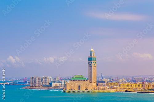 Stampa su Tela Mosquée Hassan II 2 Casablanca voyage mer