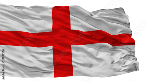 Alessandria City Flag, Country Italy, Isolated On White Background Canvas Print