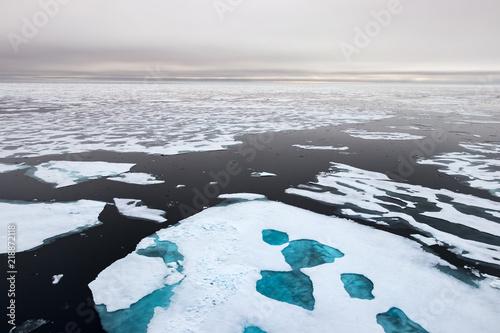 Fotografia  Ice edge at 82 41.01 degrees North from Svalbard.