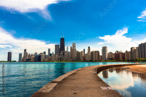 Poster Chicago Chicago Skyline from North Avenue Beach