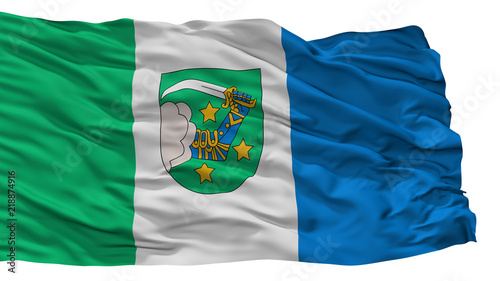 Valka City Flag, Country Latvia, Isolated On White Background Canvas Print