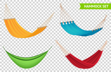 Hammock Set Realistic Transparent