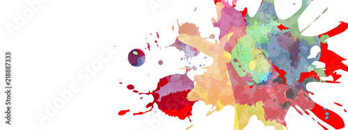 Obraz na plátně 飛び散ったカラフルな塗料
