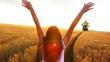 Girl in Sunset in Wheat Field