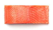 Piece Of Raw Salmon Fillet Iso...
