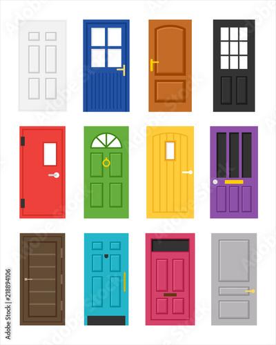 Photo various kind of door
