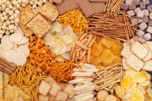Photo Assortment of snack food