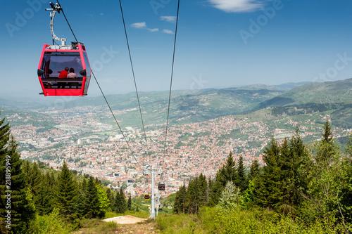 Foto Sarajevo, Bosnia and Herzegovina. Cable car