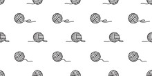 Yarn Ball Seamless Pattern Vec...