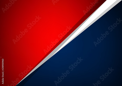 Abstract red and blue overlap vector background, Can be used in artwork design