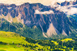 Landscape of the beautiful mountain of the Dolomites
