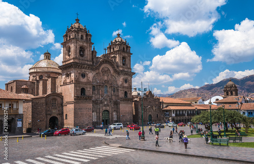 Fotobehang Zuid-Amerika land Plaza de Armas in historic center of Cusco, Peru