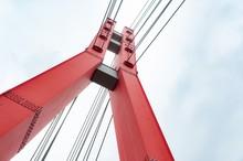 Red Metal Bridge Tower