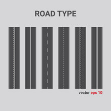 Vector Road Type. Set Of Diffe...