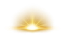 Gold Rays Rising On White Background. Suitable For Product Advertising, Product Design, And Other. Vector Illustration