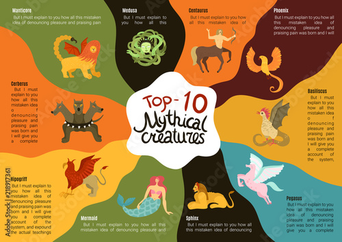 Foto Mythical Creatures Infographics