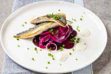 Pan Fried Mackerel With Beetro...
