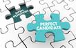 Leinwanddruck Bild - Perfect Candidate Hire Open Job Position Puzzle 3d Illustration