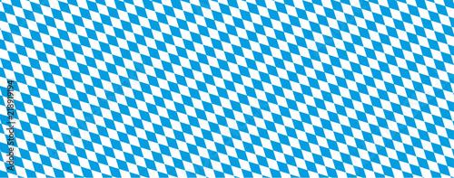 Oktoberfest Banner in bayrischen Farben mit Rautenmuster Fototapet