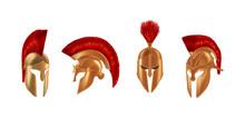 Realistic Bronze Metal Helmets...