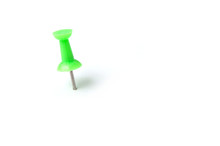 Isolated Green Pin On White Background