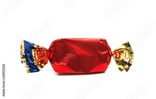 Fotografía  chocolate candy in wrapper