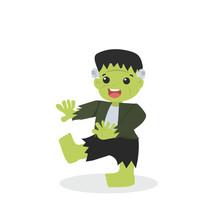 Halloween Green Frankenstein C...