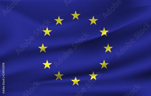 Foto  European Union flag , EU flag in Illustration