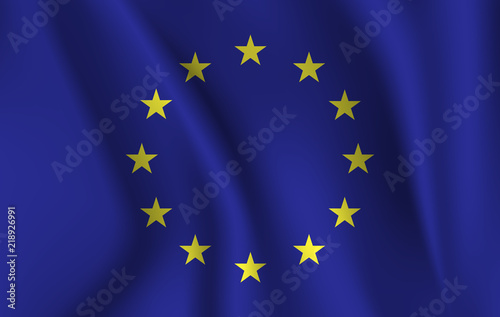 Foto  European Union flag , EU flag in Illustration