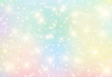 Vector Illustration Of Galaxy Fantasy Background And Pastel Color.