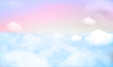 Sky Background And Pastel Color. EPS 10