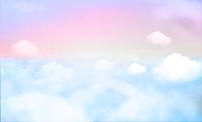 nebeska pozadina i pastelna boja. EPS 10