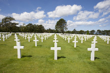08-10-2018 Colleville France. American Cemetery In Colleville-sur-Mer For American Soldiers