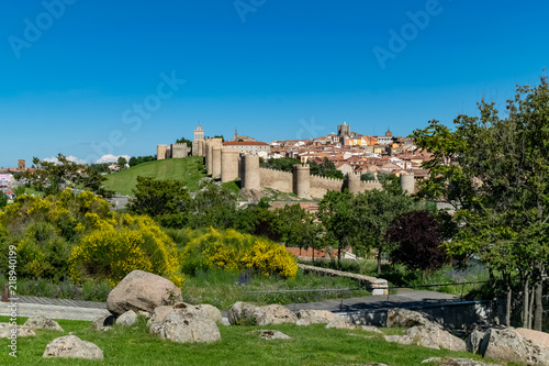 View of a part of the city of Avila and its impressive medieval wall for the enjoyment of those of us in the Cuatro Postes viewpoint.