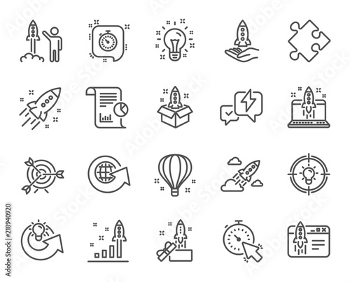 Photo Startup line icons