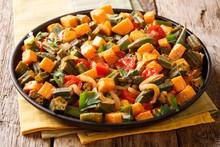 Vegan Menu Stew Of The Okra, S...