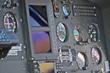 Cockpit di un elicottero leggero. Pannello strumenti