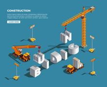 Construction Vehicles Isometri...