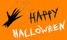 Happy Hallowen Inscription Wit...