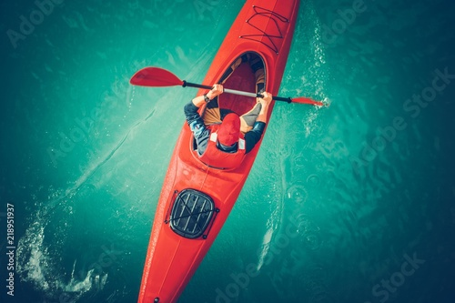 Lake Kayaking Aerial View