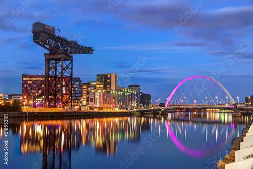Fotografie, Obraz  Clyde River, Glasgow