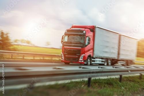 Fotografía  Speeding Euro Truck