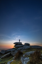 Sunset Silhouette , The Cheesewring, Bodmin Moor, Cornwall