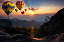 Hot Air Balloons At Doi Pha Ta...